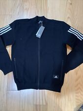 Adidas ID TRACK TOP Men's Sz M DY3465 Black Jacket Knit