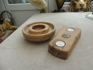 Stunning quality soild wood candle holders Bishop Made in Cornwall Ash Decorator
