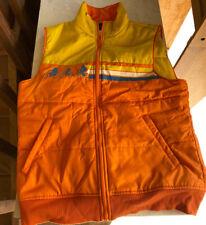 Stranger Things Full Zip Orange Yellow Puffer Vest Retro 80's 1980s Netflix