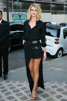 VERSUS VERSACE Rosie Asymmetric Pleated Georgette & Crepe Skirt Size UK 12