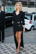 VERSUS VERSACE Rosie Asymmetric Pleated Georgette & Crepe Skirt Size UK 8