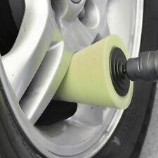 1X Yellow Cone Shaped Polishing Sponge Tool For Automobile Wheel Hub wx (Fits: Chrysler Concorde)