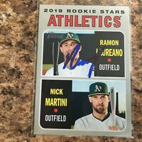 Ramon Laureano Signed 2019 Topps Heritage Rc Oakland Athletics A's