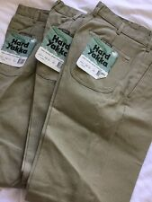 HARD YAKKA COTTON DRILL PANTS 74L - ( 3 ) DOUBLEFRONT WORK PANTS EXTRA STRONG 💰