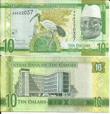 GAMBIA10 DALASIS 2015 LOTE DE 5 BILLETES
