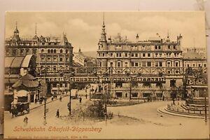 Germany Schwebebahn Elberfeld Doppersberg Postcard Old Vintage Card View Post PC