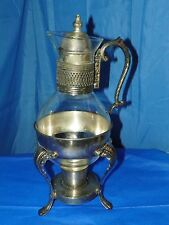 WM ROGERS #0937 SILVERPLATED CARAFE 9 CUP WITH CANDLE WARMER NEW IN BOX