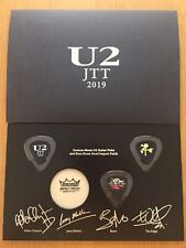 Japan U2 Joshua Tree Tour 2019 Ss seat Benefits Guiter Pick Set Member signed