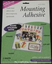 Therm O Web 'MOUNTING ADHESIVE SHEETS' 212x275mm 2pk Double-sided Adhesive Craft