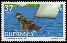 "GUERNSEY 933 - Europa ""Scouting Centenary"" Sailing (pa91533)"