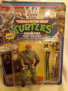 1992 Teenage Mutant Ninja Turtles Movie Star Foot Soldier action figure MOC