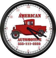 Personalized Automotive Mechanic Auto Repair Tool Shop Retro Sign Wall Clock