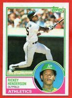 1983 Topps #180 Rickey Henderson NEAR MINT/MINT+ Oakland Athletics HOF FREE S/H