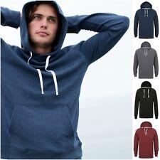 Mens Womens Slim Fit Hoodie Long Sleeve Hooded Sweatshirt Top Hood French Terry