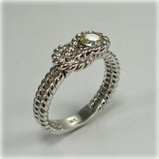 18 carat White Gold rope-style Infinity Love Knot Diamond Ring