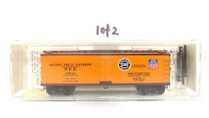 Kadee Micro Trains N Pacific Fruit Express 40' Wood Sheated Reefer 47062 1of2