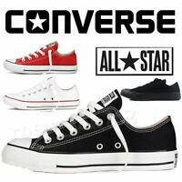 Converse All Star Chuck Taylor hombre para mujer Bajo Tops Zapatillas Zapatos
