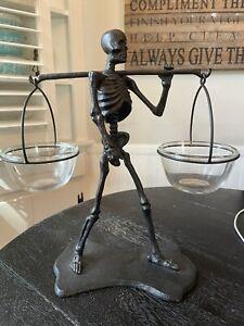Pottery Barn Walking Dead Skeleton condiment Holder set Halloween MINT