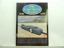 New The Land Speed Record 1930-1939 Book By R.M. Clarke B39j