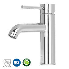 Light Chrome Single Handle Bathroom Faucet Basin Mixer Tap Lavatory Faucet Brass