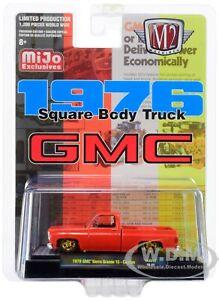 1976 GMC SIERRA GRANDE 15 SQUARE BODY PICKUP TRUCK RED 1/64 CAR M2 31500-MJS12