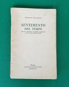 UNGARETTI, SENTIMENTO DEL TEMPO, ED. NOVISSIMA, NUMERATA, 1936