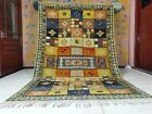 Vintage Moroccan Berber Handwoven Knotted & Embroidered 6ft 4x10ft 4 Area Carpet