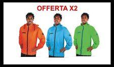 offerta doppia 2 K-way tuono giacca antivento rain jacket anti pioggia sport