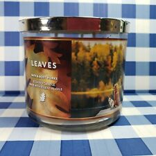 BATH & BODY WORKS (LEAVES) 3 WICK 14.5 oz CANDLE NEW