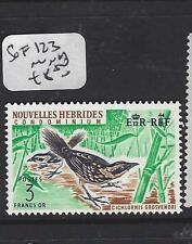 NEW HEBRIDES FRENCH   (PP1208B)  3 FR  BIRD   SG F123    MNH
