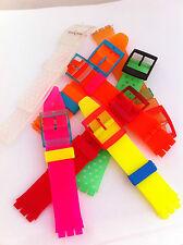 CINTURINO Strap watch OROLOGIO modello SWATCH PLASTICA vari colori 17 mm SW512