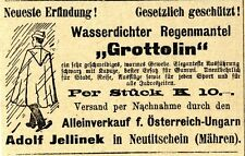 Neuste Erfindung: Grottolin Jellinek Neutitschein Historische Annonce 1910