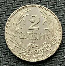 1924 Uruguay 2 Centesimos coin CH UNC    Rare Condition  World Coin     #C934