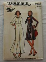 Vintage Dress Sewing Pattern*Butterick 4005*Size 16*UNCUT/FF*long*hooded*BOHO