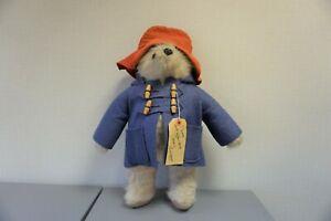 Paddington Bear Original Gabrielle Designs  Vintage Bear With Original Label