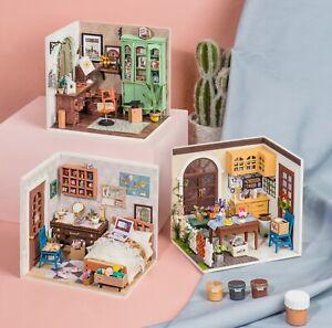 Robotime Tech DIY 3D Hobby Craft Miniature Model Kit Bedroom Study Dining Room