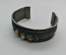 Ancient Bracelet Metal Viking Color Silver Unique Stones Authentic Rare Extremel