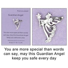 Equilibrium Platinum Plated Guardian Angel Keep You Safe  Pin Brooch   54482