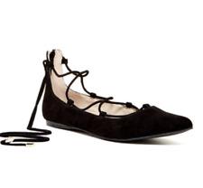 Calvin Klein Shoes  size 5.5  black suede ballet flat Lace Up