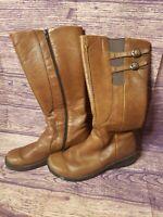 KEEN Leather Boots Bern Baby Bern Brown Knee High Zip Women 10M US