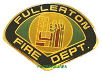 Vintage Historic Fire Pins Fullerton CA Fire Department Patch Lapel Hat New Pin@