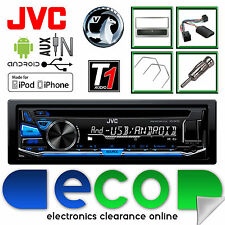 Vauxhall Astra G JVC Radio CD MP3 USB Car Stereo & Steering SILVER Fitting Kit