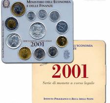 NL* ITALIA Divisionale 2001 Giuseppe VERDI 12 Valori con 500 e 1000 Lire argento