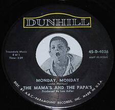 "Pop Rock 45~THE MAMA'S & THE PAPA'S~Monday Monday / Got A Feelin'~CLEAN Vinyl 7"""