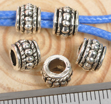 50pcs tibetan Silver big hole Jewelry finding Making Spacer /Beads 8mm