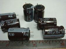 (25) NICHICON 560uf 35V 105° Radial Electrolytic Capacitor