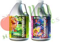 General Hydroponics FLORALICIOUS: GROW, BLOOM 1 Gal Gallon Organic Base GH