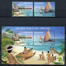 Niuafo 'ou 1999 Esploratore Explorer NAVI SHIPS 350-351 blocco 23 post FRESCHI MNH
