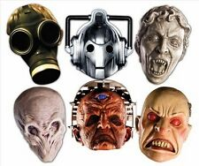 Dr Who Monsters Party Six Pack Fun CARD Face Masks includes Davros Weeping Angel