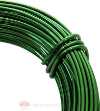 Aluminum Craft Wire 18 Gauge Green 39 Feet 11.8 Meters Wrapping Sculpture